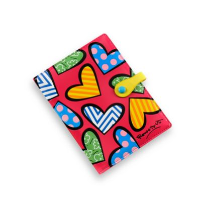 Britto™ by Giftcraft Heart Design Passport Cover in Pink
