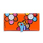 Britto™ by Giftcraft Flower Design Clutch Wallet in Orange