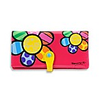 Britto™ by Giftcraft Flower Design Clutch Wallet in Pink