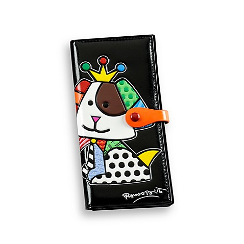 Britto™ by Giftcraft Beagle Dog Design Black Clutch Wallet