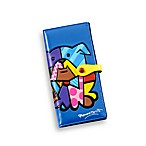 Britto™ by Giftcraft Bulldog Design Blue Clutch Wallet