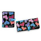 Britto™ by Giftcraft Heart Design Black Wallets