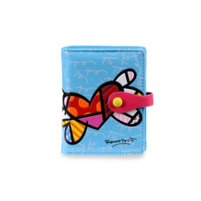 Britto™ by Giftcraft Heart Design Blue Bi-Fold Wallet
