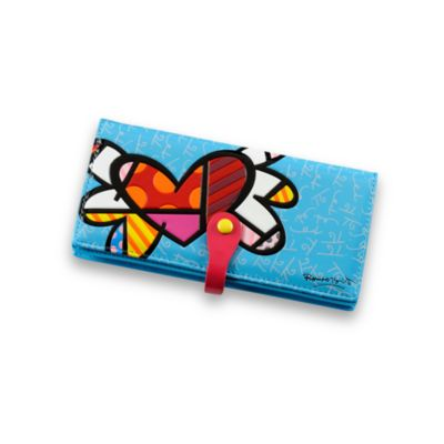 Britto™ by Giftcraft Heart Design Blue Clutch Wallet