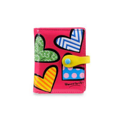 Britto™ by Giftcraft Heart Design Pink Bi-Fold Wallet