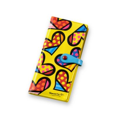 Britto™ by Giftcraft Heart Design Yellow Clutch Wallet