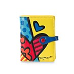 Britto™ by Giftcraft Heart Design Yellow Bi-Fold Wallet