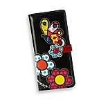 Britto™ by Giftcraft Butterfly Design Black Clutch Wallet