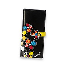 Britto™ by Giftcraft Flower Black Clutch Wallet