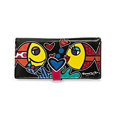 Britto™ by Giftcraft Fish Black Clutch Wallet