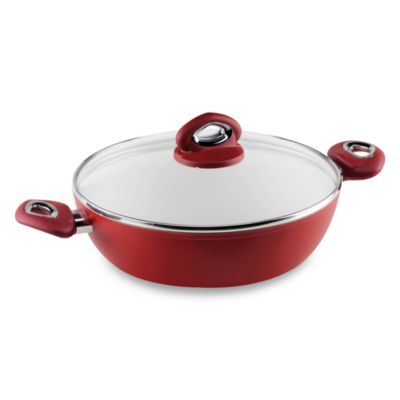 Bialetti® Aeternum Red 10.25-Inch Covered Everyday Pan