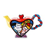 Britto™ by Giftcraft Kissing Couple 2 Design Miniature Ceramic 7-Ounce Teapot