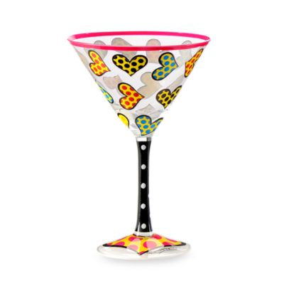 Britto™ by Giftcraft Heart Design 8-Ounce Martini Glass