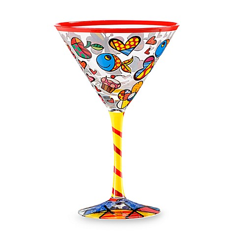 Britto™ by Giftcraft Colorful Icons 8-Ounce Martini Glass