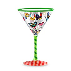 Britto™ by Giftcraft Fun Design 8-Ounce Martini Glass