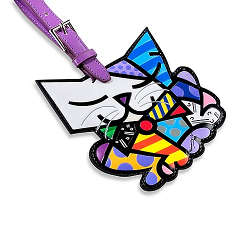 Britto™ by Giftcraft Animal-Shaped Luggage Tag in Cat with Tie