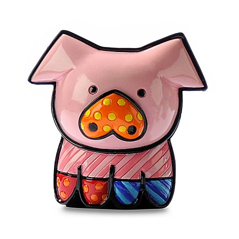 Britto™ by Giftcraft Pearle Pig Miniature Figurine