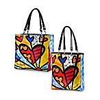 Britto™ by Giftcraft A New Day Heart Tote Bags