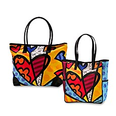 Britto™ by Giftcraft A New Day Heart Button Tote Bag
