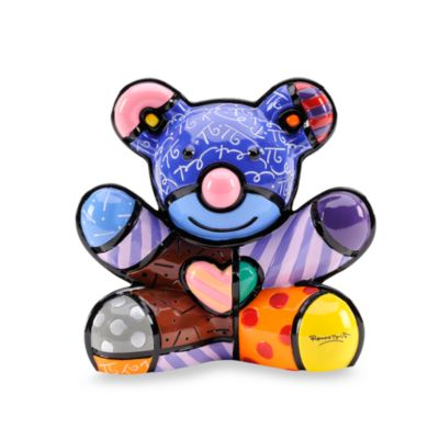 Britto™ by Giftcraft Joy Bear Figurine with Certificate of Authenticity