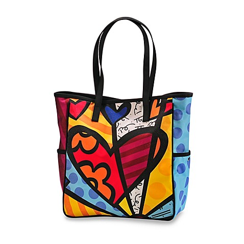 Britto™ by Giftcraft A New Day Heart Button Tote Bag in Small