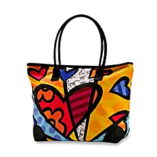Britto™ by Giftcraft A New Day Heart Button Tote Bag in Large