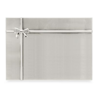 Silver Plated Bow Brag Book