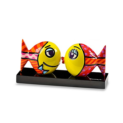 Britto™ by Giftcraft Double Kissing Fish Figurine with Certificate of Authenticity