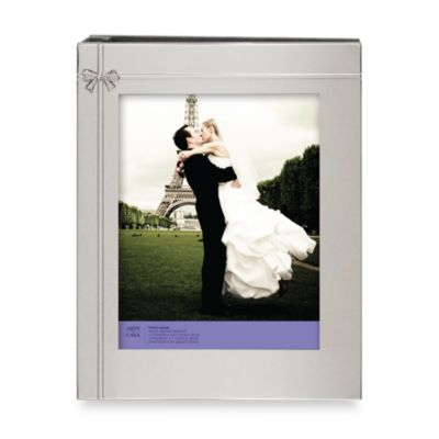 Silver Plated Bow Photo Album