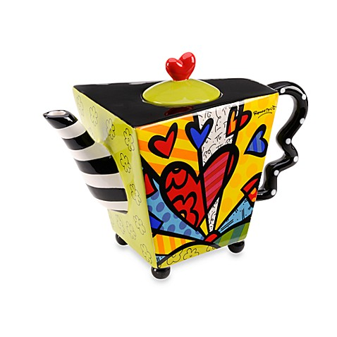 Britto™ by Giftcraft A New Day Design 48-Ounce Ceramic Teapot