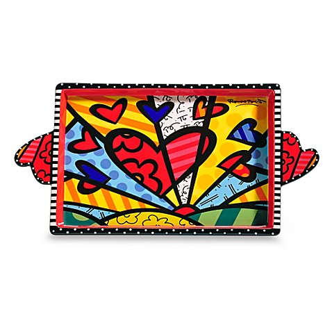 Britto™ by Giftcraft A New Day Design Ceramic Serving Tray