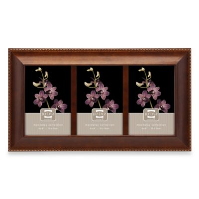 Prinz Mandalay 3-Opening 4-Inch x 6-Inch Wood Frame in Dark Walnut Finish