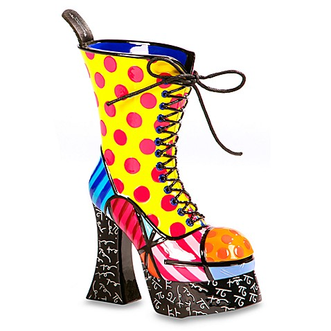 Britto™ by Giftcraft Lace-Up Boot Figurine