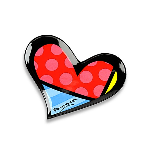 Britto™ by Giftcraft Heart Shaped Trinket Tray