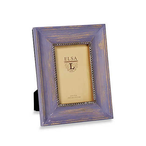 Weathered Wood 4-Inch x 6-Inch Frame in Lavender