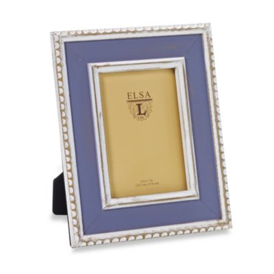 Weathered Wood 5-Inch x 7-Inch Frame in Lavender