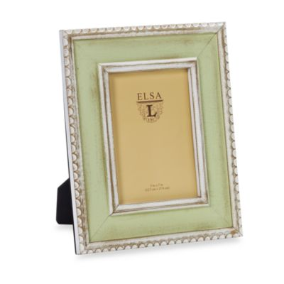 Weathered Wood 5-Inch x 7-Inch Frame in Seafoam