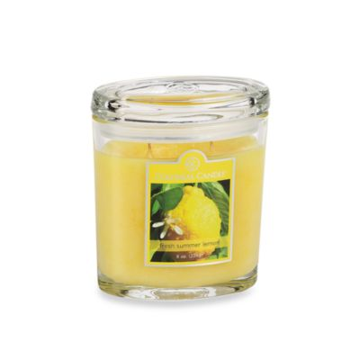 Colonial Candle® Fresh Summer Lemon Scented Candle in 8-Ounce Oval Jar Candle