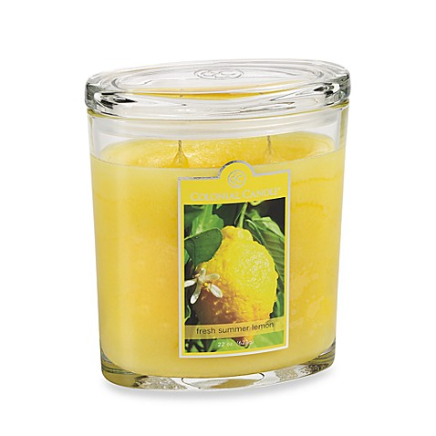 Colonial Candle® Fresh Summer Lemon Scented Candle in 22-Ounce Oval Jar Candle