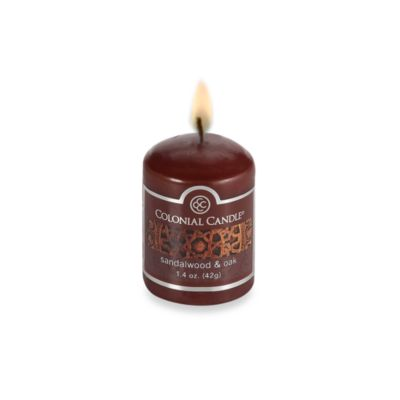 Colonial Candle® Sandalwood & Oak Scented Candle in 1.7-Ounce Votive