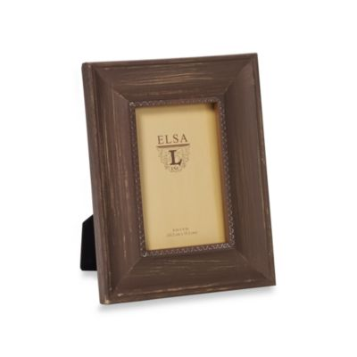 Weathered Wood 4-Inch x 6-Inch Frame in Cognac