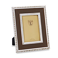 Weathered Wood 4-Inch x 6-Inch Frame with Beaded Detail in Cognac