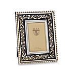 Weathered Wood 4-Inch x 6-Inch Frame with Foil Design in Charcoal