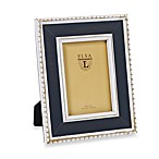 Weathered Wood 4-Inch x 6-Inch Frame with Beaded Detail in Charcoal