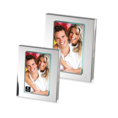 Cupecoy Design Silver Plated 5-Inch x 7-Inch Frame with Thick Glass