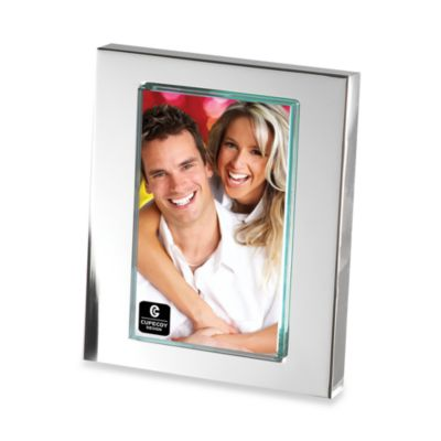 Cupecoy Design Silver Plated 4-Inch x 6-Inch Frame with Thick Glass