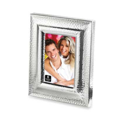 Silver Plated Hammered Frame