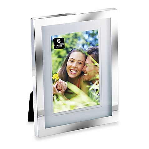 Cupecoy Design Silver Plated 8-Inch x 10-Inch Frame with Double Mat