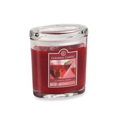 Colonial Candle® Cranberry Cosmo Scented Candle in 8-Ounce Oval Jar Candle
