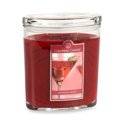 Colonial Candle® Cranberry Cosmo Scented Candle in 22-Ounce Oval Jar Candle